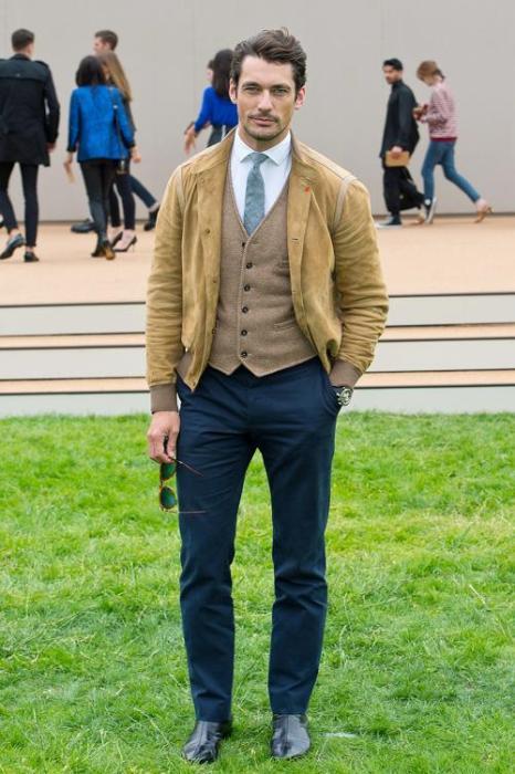 Манекенщик Дэвид Ганди на показе Burberry Prorsum Недели мужской моды SS 14 в Лондоне. Фото: Gareth Cattermole/Getty Images for Burberry