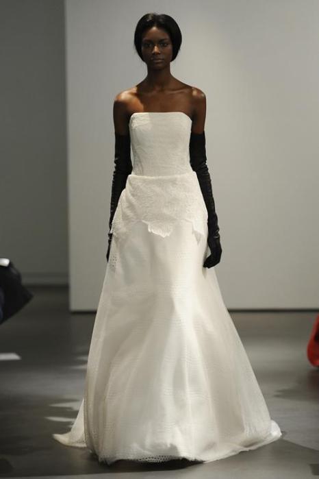 Свадебную коллекцию Vera Wang 2014 представили в Нью-Йорке. Фото: Fernanda Calfat / Getty Images