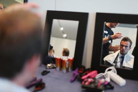 Гидо ван дер Гарде, автогонщик формулы один из Нидерландов за Caterham, участвует в модном показе Amber Lounge в Монте-Карло. Фото: Mark Thompson/Getty Images