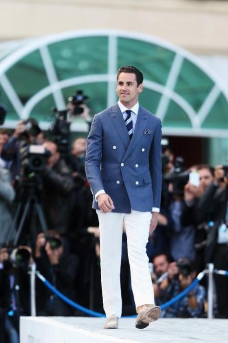 Адриан Сутил, пилот из Германии за Force India, участвует в модном показе Amber Lounge в Монте-Карло. Фото: Mark Thompson/Getty Images