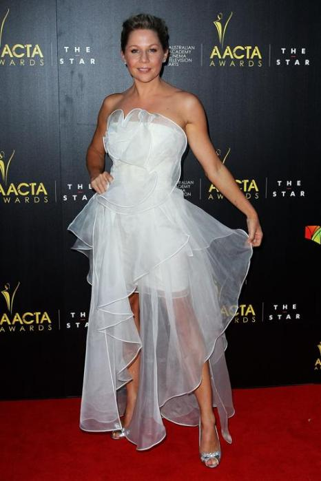 Джиджи Эджли (Gigi Edgley), австралийская актриса, на церемонии вручения премии AACTA в Сиднее, 30 января 2013 года. Фото: Lisa Maree Williams / Getty Images
