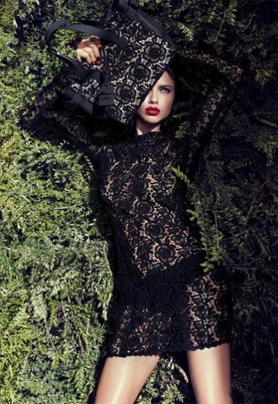Адриана Лима в осенней кампании бренда Blumarine. Фото предоставлено AbNovki