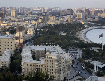 Вид на город Баку. Фото РИА Новости