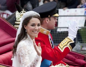 ПРИНЦЕССА: низко уложенный полу-пучок принцессы Кейт, созданный Ричардом Вардом и Джеймсом Прайсом. Фото: Getty Images Entertainment