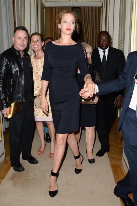 Ума Турман посетила показ Versace на Неделе высокой моды в Париже 1 июля 2013 года. Фото: Pascal Le Segretain/Getty Images