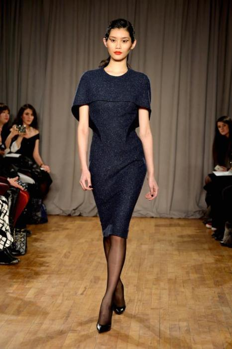 Мин Си на показе коллекции женской одежды Zac Posen в Нью-Йорке 10 февраля 2014 года. Фото: Frazer Harrison/Getty Images for Mercedes-Benz Fashion Week