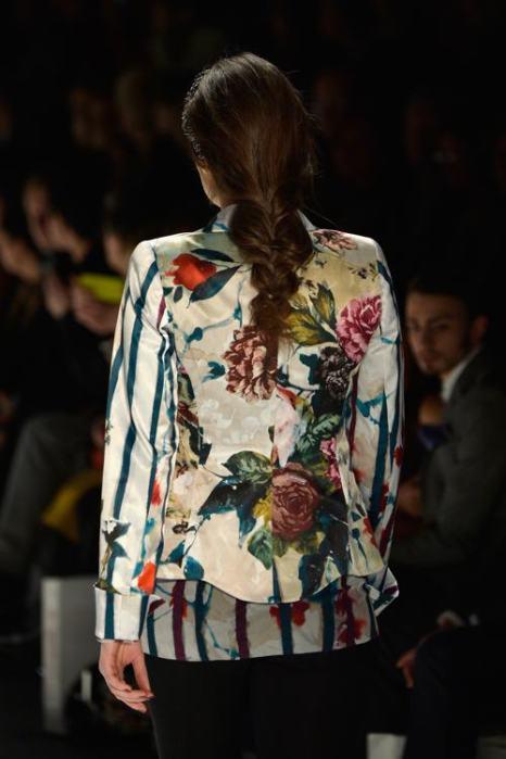 Аня Гокель представила 15 января 2014 года  женскую коллекцию одежды осенне-зимнего сезона 2013/2014 на Неделе моды в Берлине. Фото: Frazer Harrison / Getty Images для Mercedes Benz