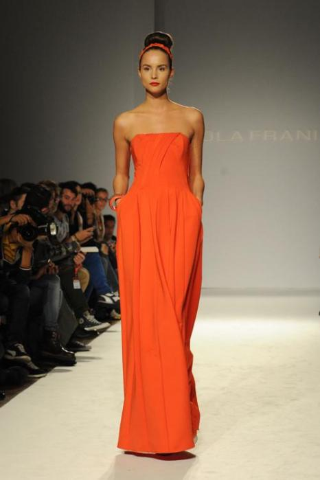 Модный итальянский бренд, созданный более 30 лет назад Паолой Франи, представил новую коллекцию Paola Frani 2014 на Неделе моды в Милане 18 сентября 2013 года. Фото: Pier Marco Tacca/Getty Images