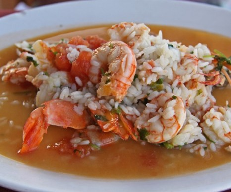 Блюдо из восхитительных креветок и омара в Restaurante Portugal. Фото: Майкл Варга