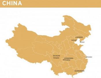 На карте соответствующие города и провинции Китая. Фото: Диана Хуберт/Великая Эпоха (The Epoch Times)