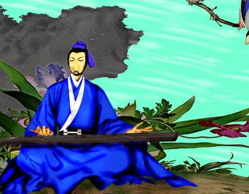 Ши Гуан, Божество Музыки в Китае. Иллюстрация: Зона Е/Великая Эпоха (The Epoch Times)