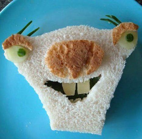 Оформление порционных ломтиков хлеба. Фото: supercook.ru