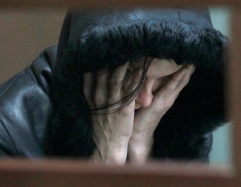 Жанна Суворова, сбившая двух мужчин в ДТП на Бирюлевской улице в Москве. Фото РИА Новости