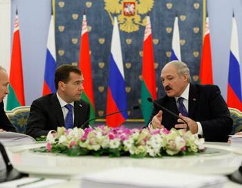 Заседание Высшего госсовета Союзного государства России и Белоруссии. Фото РИА Новости