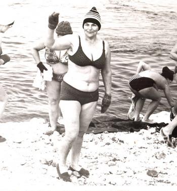 Моржевание. Фото из семейного архива.