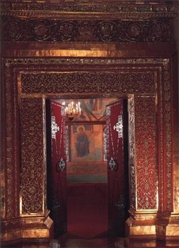 Золотая Царицына палата, элемент декора. Фото: gidtravel.com