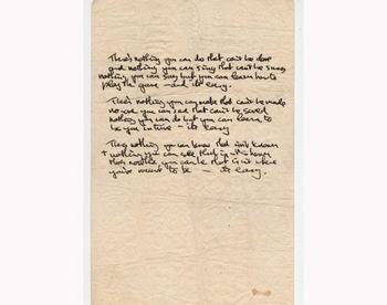 Рукопись песни Джона Леннона выставлена на торги. Фото с сайта images.businessweek.com