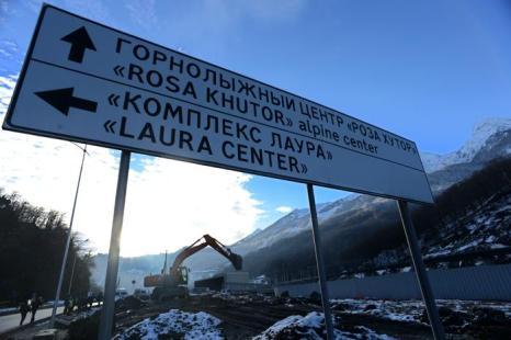 Путь к горнолыжному курорту «Роза Хутор» в Сочи, 3 февраля 2013 года. Фото: KIRILL KUDRYAVTSEV/AFP/Getty Images