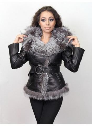 Кожаные куртки с мехом: стильно и модно. Фото с paffos.ru