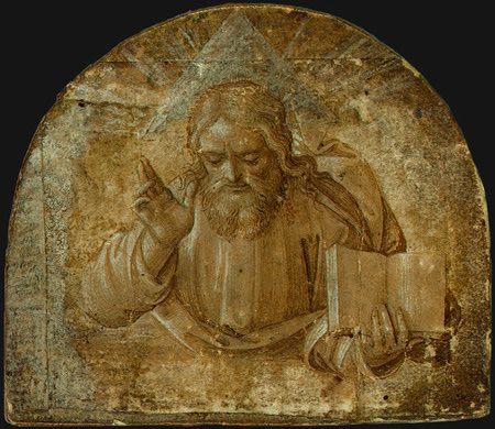 Бог Отец с треугольным гало. Girolamo dai Libri c. 1555