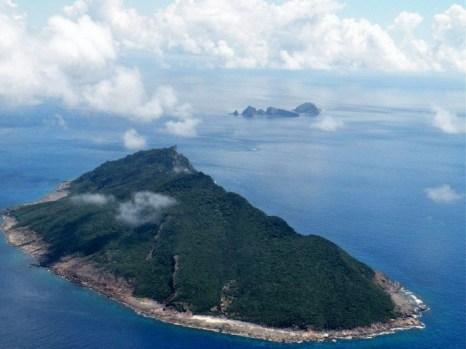 Спорные острова, известные как Сенкаку в Японии и Дяоюйдао в Китае, снимок сделан 15 сентября 2010 года. Фото: Jiji Press/AFP/Getty Images