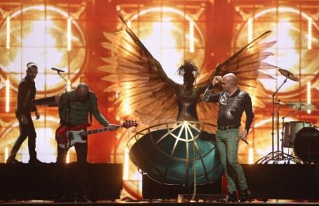 Фоторепортаж о предстоящем  выступлении Воробьёва в полуфинале «Евровидения – 2011». рок-группа Yuksek Sadakat (Турция. Фото: Sean Gallup/Getty Images