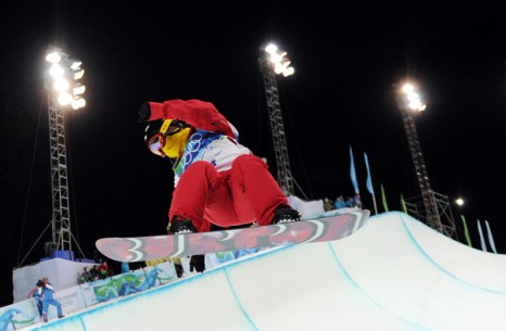 Олимпиада в Ванкувере. Сноубординг.Zhifeng Sun, Китай. Фото:ADRIAN DENNIS/Getty Images Sport