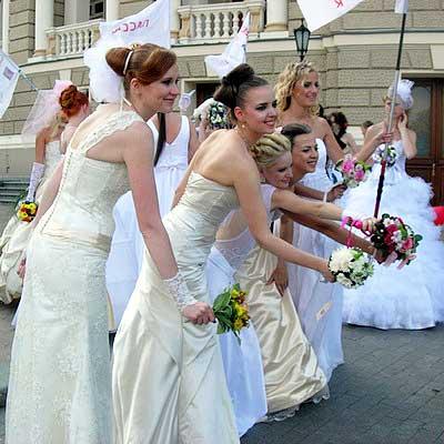 Парад невест в Одессе. Фото: Алла Лавриненко/Великая Эпоха