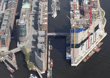 Гамбург. Строительство нового Филармонического зала. Фото: Andreas Rentz/Getty Images