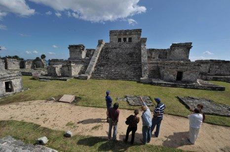 Тулум, древний город цивилизации майя. Фото: CRIS BOURONCLE/AFP/Getty Images