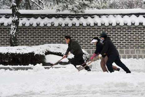 Южная Корея в снегу. Фото: JUNG YEON-JE