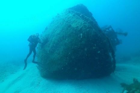 Затонувший корабль, ставший искусственным рифом у Палм-Бич. Фото: John Christopher Fine