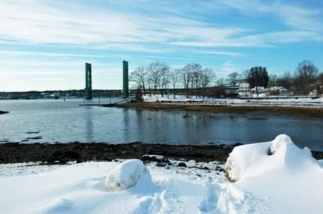 На северо-востоке мы увидели мост Сары Милдред Лонг. Фото: Мэри Байром