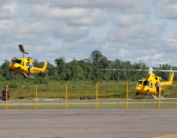 Поисковые вертолёты. Фото: AFP/Getty Images