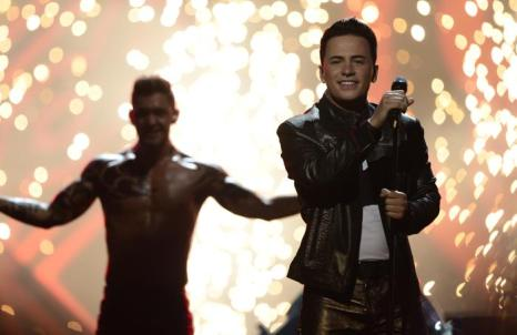 Райан Долан из Ирландии в финале Евровидения 2013. Фото: JOHN MACDOUGALL/AFP/Getty Images