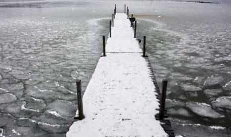 Водоемы в Германии покрылись льдом. Фото: Sean Gallup/Getty Images