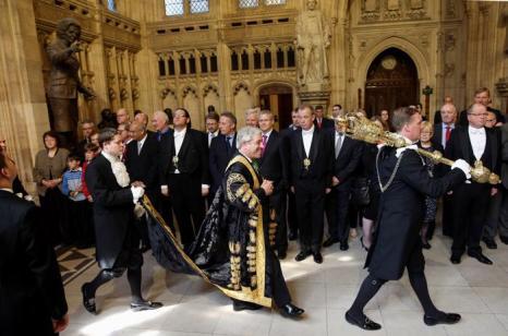 Спикер плата общин Джон Беркоу на Церемонии открытия парламента. Фото: OLI SCARFF/AFP/Getty Images