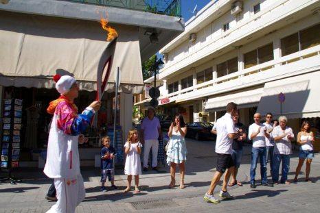 Эстафета Олимпийского огня «Сочи-2014» стартовала в древней Олимпии. Фото: Анна Скороходова