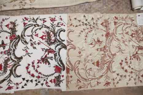 Дизайн в стиле Шинуазри (подражание китайскому стилю), два из множества цветовых предложений. Фото: Samira Bouaou/Epoch Times