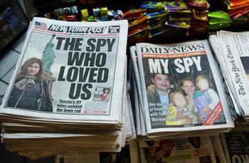 Анна Чапман (Anna Chapman) - русские шпионка не хочет жить в России. Фото: EMMANUEL DUNAND/AFP/Getty Images