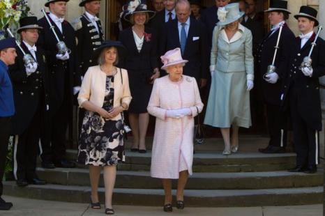 Королева Елизавета II и принц Филипп посетили службу в Вустерском соборе. Фоторепортаж. Фото: Heathcliff OMalley - WPA Pool /Getty Images