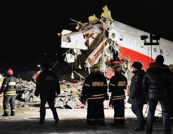 Крушении Ту-204 в аэропорту Внуково. Фото: ANDREY SMIRNOV/AFP/Getty Images