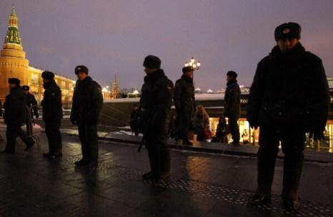 Акция памяти Егора Свиридова в Москве на Манежной площади не состоялась. Фото: Alexey SAZONOV/AFP/Getty Images