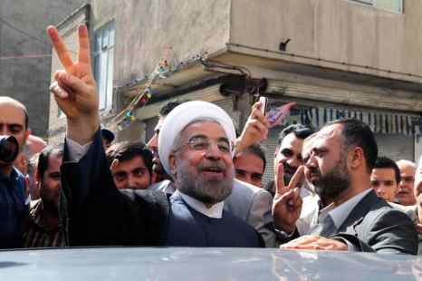 Президента Ирана Хассана Роухани. Фото: ATTA KENARE/AFP/Getty Images