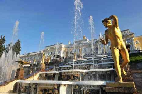 В Петергофе прошёл праздник открытия фонтанов. Фото: Pascal Le Segretain/Getty Images