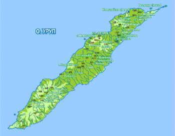 Карта острава Уруп. Фото: с сайта shamora.info