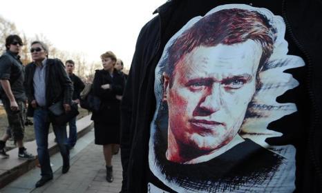 Около 1,5 тысячи человек выступили на митинге в поддержку Навального. Фото: YURI KADOBNOV/AFP/Getty Images