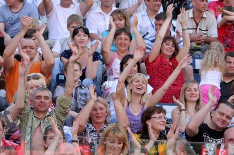 Трибуны зрителей. Фото предоставлено PR-агентством Diamond Group