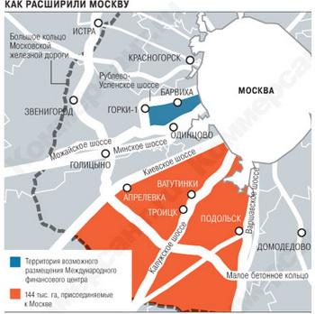 Территория Москвы увеличилась с 1 июля. Фото: forum-psn.ru