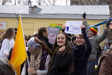 Первомайская демонстрация в Новосибирске. Фото: Сергей Кузьмин/Великая Эпоха (The Epoch Times